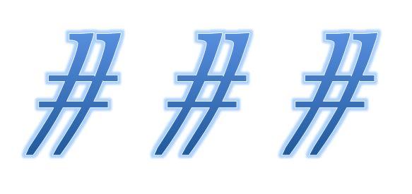 Funktionserweiterung – #Hashtag