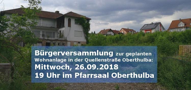 Bericht und Eindrücke aus der Bürgerversammlung zum Planungsvorhaben in der Quellenstraße