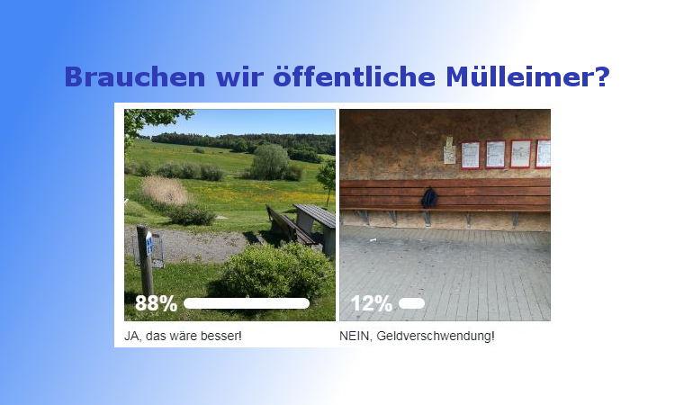 Klares Votum für öffentliche Mülleimer im Markt Oberthulba