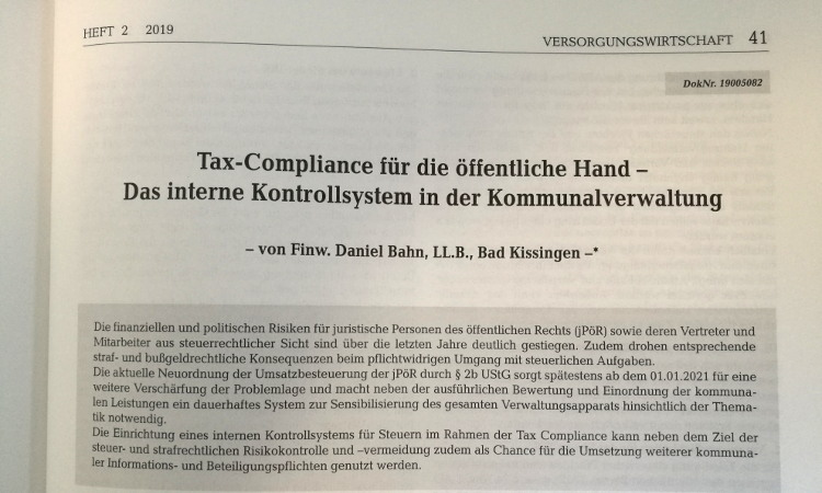 Tax Compliance in der Kommunalverwaltung