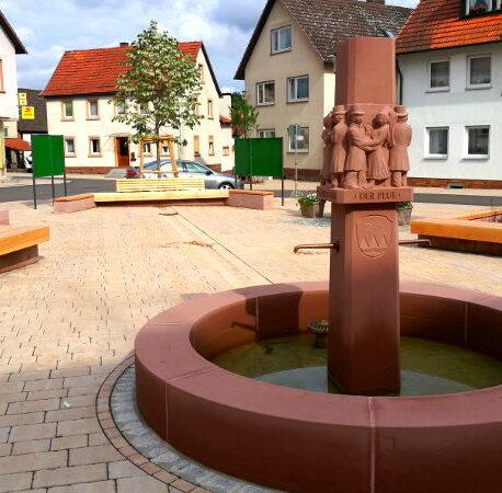 Der neue Marktplatz in Oberthulba