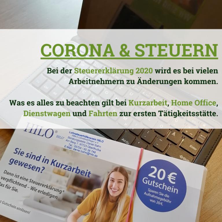 Corona und Steuererklärung - Was Arbeitnehmer beachten ...