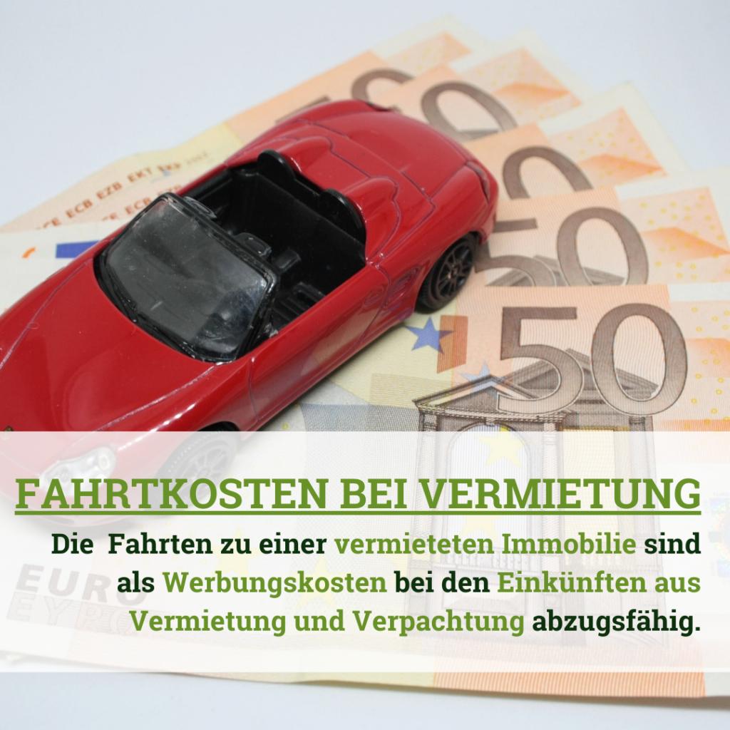 Fahrtkosten bei Vermietung und Verpachtung